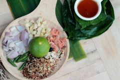 Miang Kham - liścia opakunku zakąska jest wyśmienicie Zdjęcie Stock