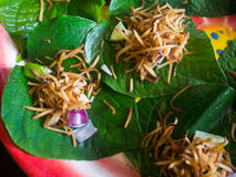 Miang Kham or Savoury Leaf Wraps Royalty Free Stock Images