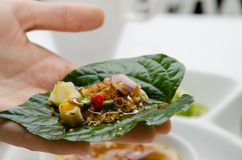 Miang kham, traditional snack from Thailand Royalty Free Stock Photo