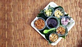 Miang Kum is Thaifood Stock Image