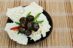 Miang Lao rice cracker Royalty Free Stock Photo