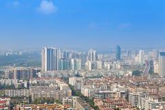 Mianyang, фарфор, панорама города стоковые фотографии rf
