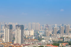 Mianyang,china, city panorama Royalty Free Stock Images