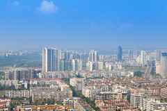 Mianyang,china, city panorama Royalty Free Stock Photos