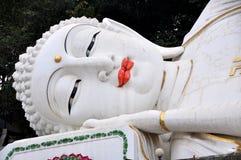 Mianyang, China: Face of Reclining Buddha Royalty Free Stock Photos