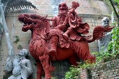 Mianyang, China: Guerrero del templo de la terracota Imagen de archivo