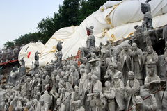 Mianyang, China: Reclining Buddha and Statues Stock Photo