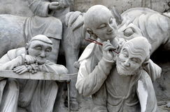 Mianyang, China: Sheng Shui Temple Buddha Figures Stock Image