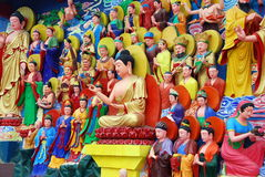 Mianyang, Chine : Tableaux de sculpture en Bouddha Photos libres de droits
