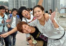 Mianyang, Cina: Allievi al tempiale di Sheng Shui Immagini Stock Libere da Diritti