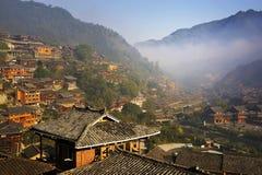 Miao少数民族村庄 图库摄影