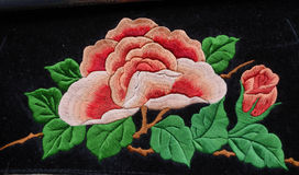 Miao embroidery peony Stock Images