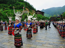 Miao festival. In the Xijiang of Guizhou Photo taken on: May 25th, 2012 stock images