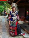 Miao Girl in Guizhou Miao Village Stock Foto