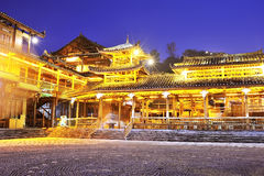 Miao minoritetträbyggnad Royaltyfri Fotografi