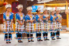 Miao Minorities-dorp Guilin royalty-vrije stock foto's