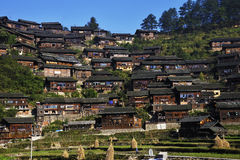 Miao minority village. The Xijiang Miao minority village in Leishan county,Guizhou province of china royalty free stock image