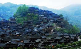 The Miao national minority people live place  Royalty Free Stock Photos