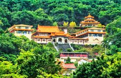 Miao Temple on a hill in Taipei, Taiwan royalty free stock photo