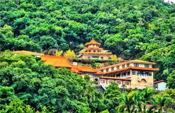 Miao Temple on a hill in Taipei, Taiwan royalty free stock image