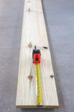 miara deski taśmy drewna Zdjęcie Stock