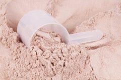 miarki czekoladowa proteinowa serwatka obrazy stock