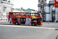 Miarowe autobusowe wycieczki w Kazan Zdjęcie Stock