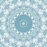 Miarowego delikatnego okręgu ornamentu błękitnych szarość koronki biały wzór royalty ilustracja