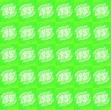 Miarowy bezszwowy w zawiły sposób deseniowy jaskrawy - zielone białe purpury Fotografia Royalty Free