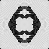Miarowy czarny i biały fryzujący wzór wyrównujący radially Halftone linii pierścionku ilustracja w fractal abstrakcyjne ilustracji