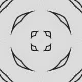 Miarowy czarny i biały zasłona wzór wyrównujący w jajkach r royalty ilustracja