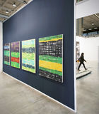 MiArt, internationell utställning av modernt och samtida konst Arkivbild