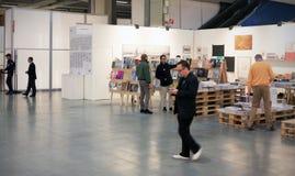 MiArt, internationell utställning av modernt och samtida konst Arkivbilder
