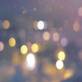 Miast światła przez deszczu Obraz Stock