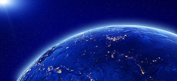 Miast światła - Rosja i Azja Zdjęcie Stock