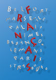 miast crossword francuz ilustracji