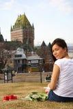 miast Quebec ludzie Obraz Royalty Free