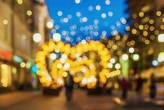Miasta światła plamy bokeh defocused tło Obraz Royalty Free