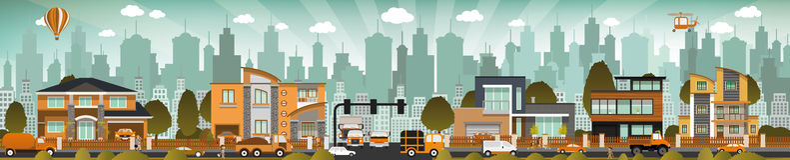 Miasta życie ilustracji