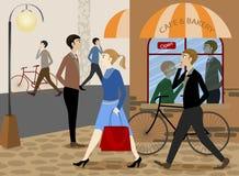 Miasta życie dzienny ilustracja wektor