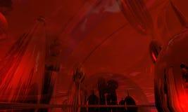 miasta 3 abstrakcjonistycznego szkła Obrazy Royalty Free