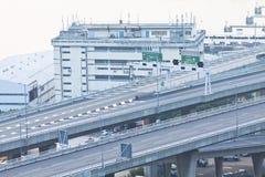 miasta autostrady pasów ruchów nowożytny wielo- Obrazy Stock