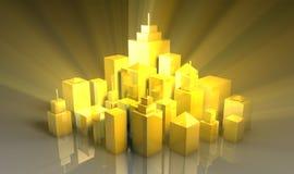miasta błyszczący czysty royalty ilustracja