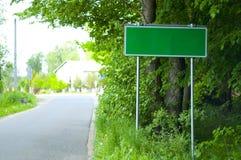 miasta błonia znak Fotografia Royalty Free