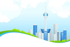 Miasta biznesowy Tło Zdjęcie Stock