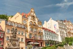 miasta czeski karlovy republiki wierza zmienia widok Obraz Royalty Free