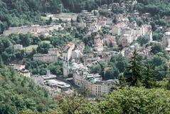 miasta czeski karlovy republiki wierza zmienia widok Zdjęcia Stock
