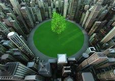 miasta drzewo royalty ilustracja
