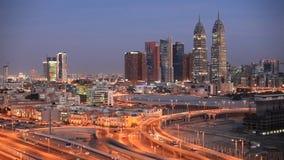 miasta Dubai środków noc zdjęcie wideo