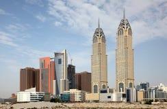 miasta Dubai środki zdjęcie stock